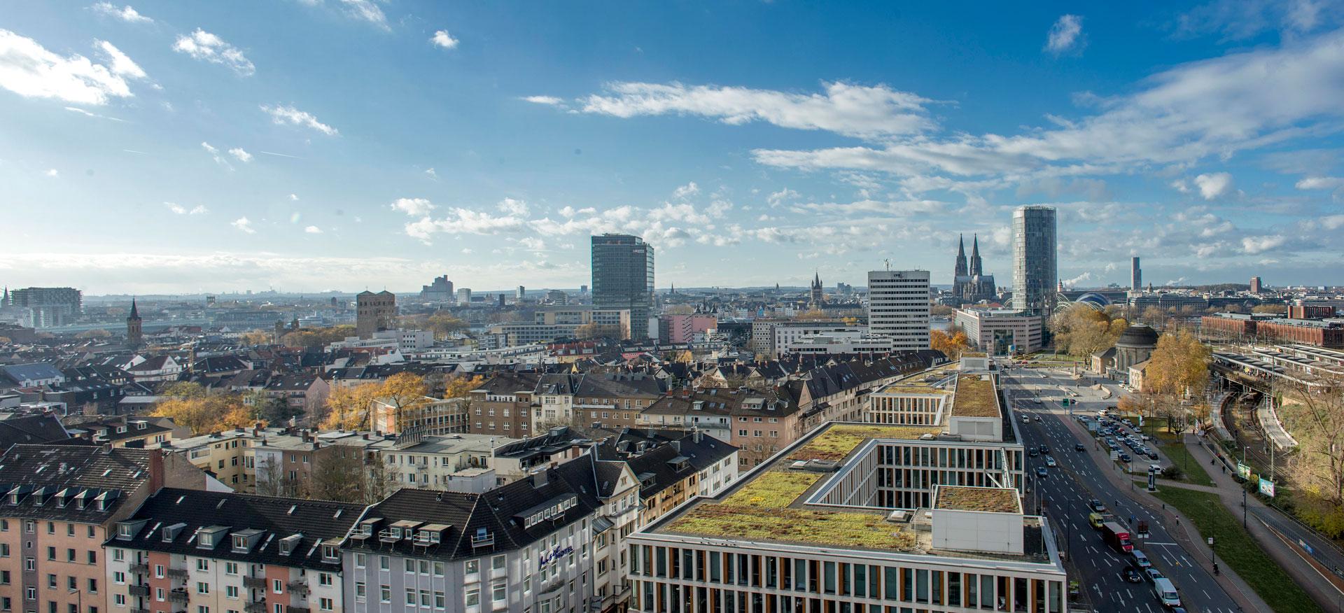 Blick über Köln vom Stadthaus in Köln aus