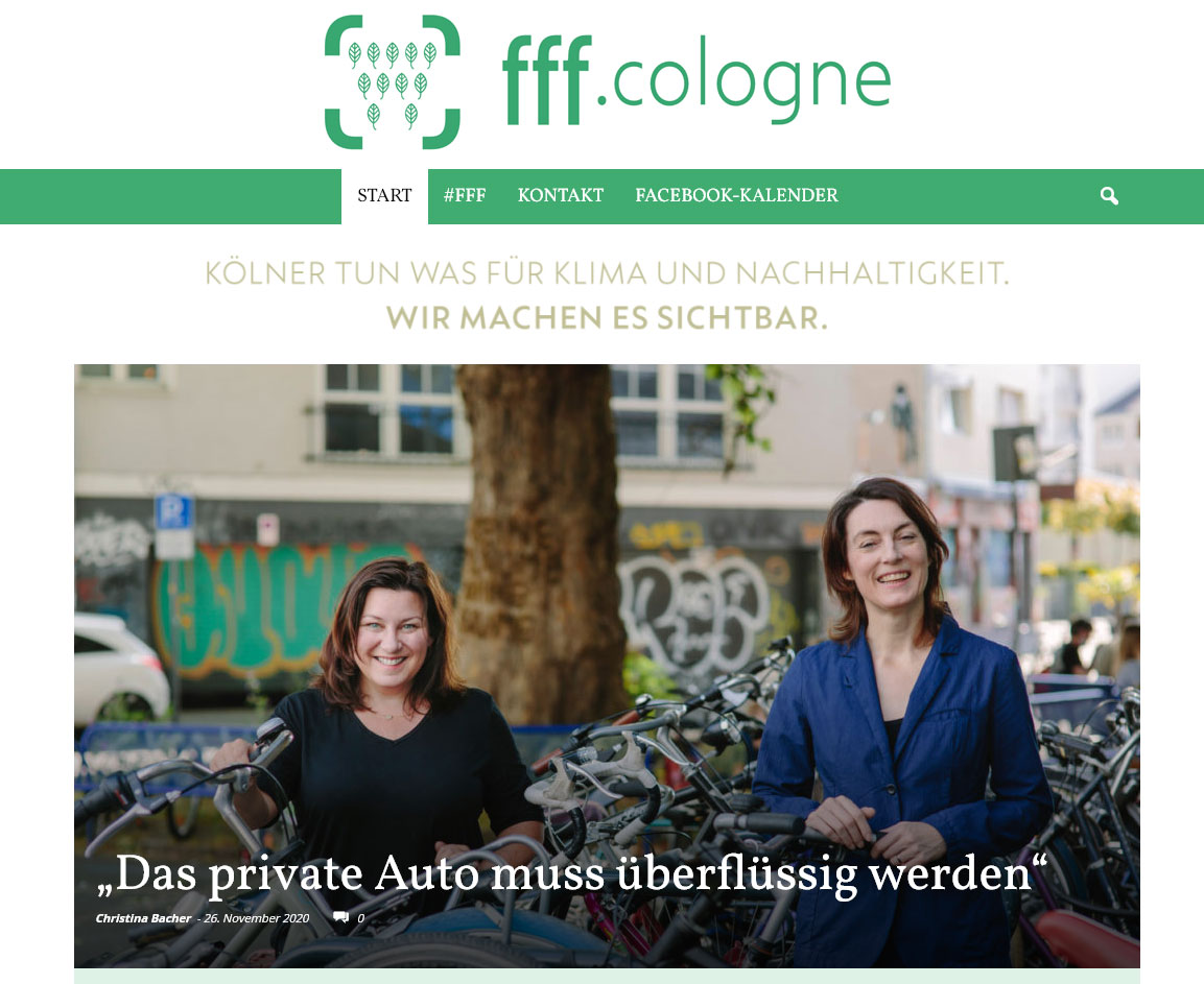 Screenshot des Weblogs fff.cologne